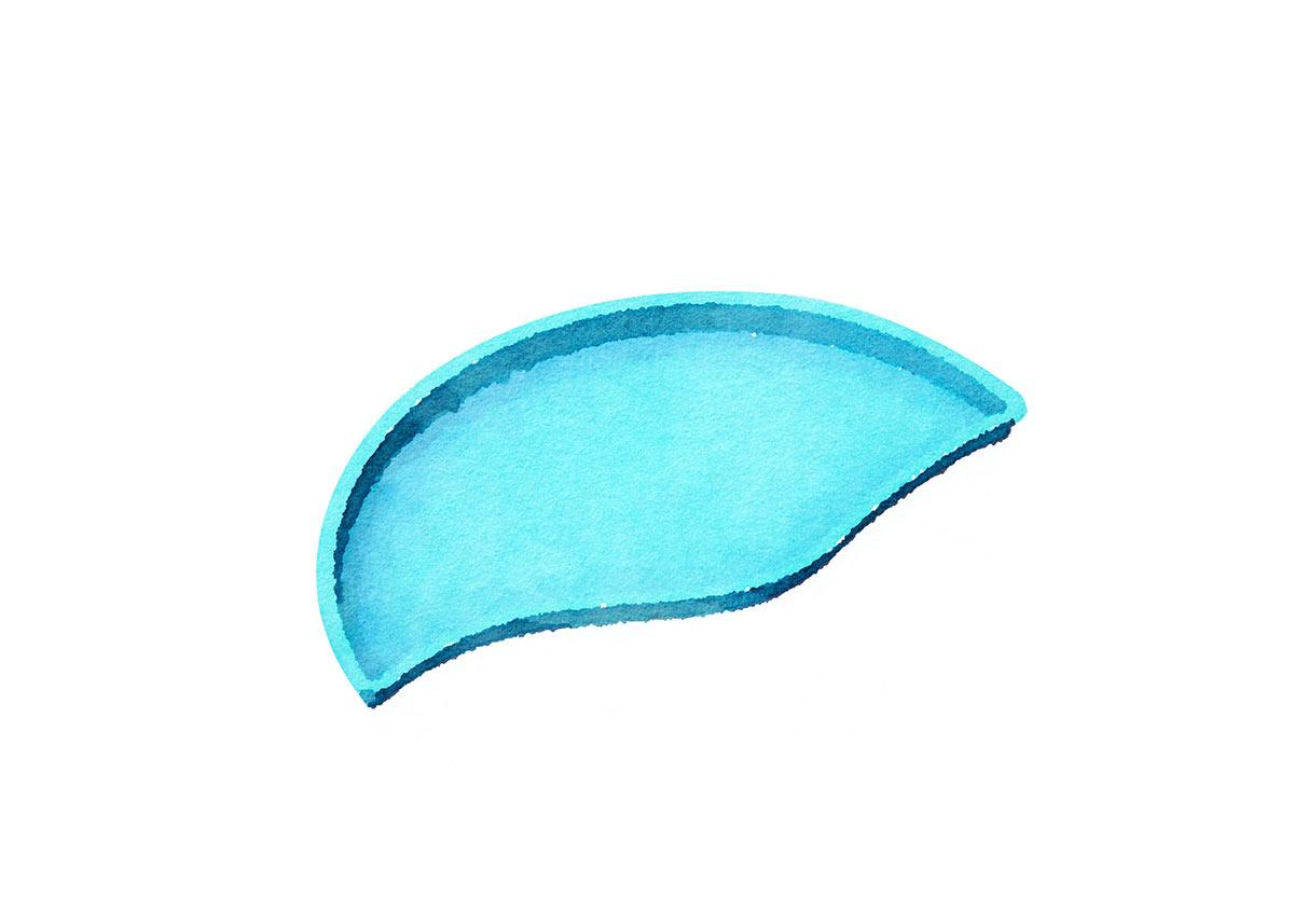 Genesis/Synergy Semicircle Side Tanning Ledge